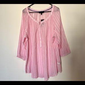 NWT Lane Bryant Pink Striped Blouse
